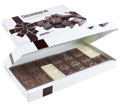 Chocoladetelegram - Bron: Yoursuprise.nl